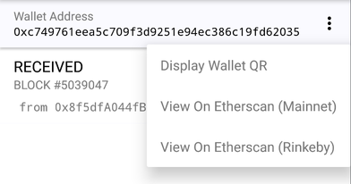 Display Wallet QR